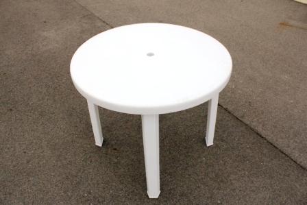 バカンス テーブル(白樹脂タイプ)