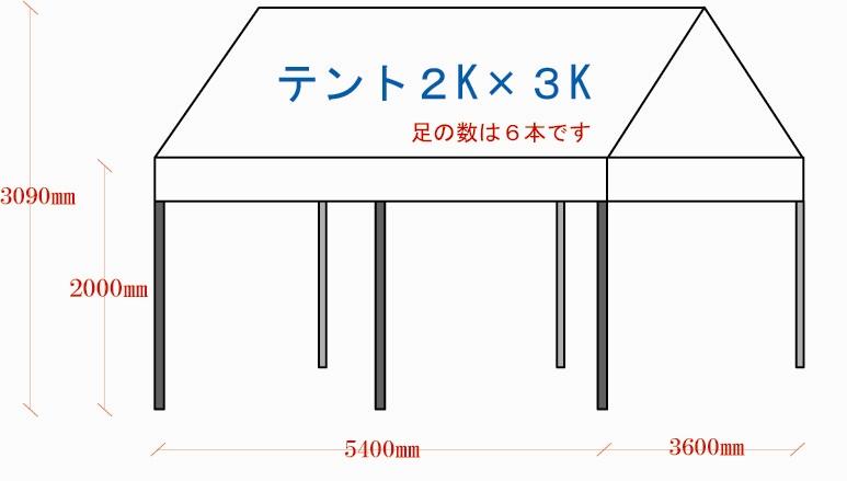 3.6m×5.4mテント(2k×3kテント)