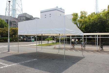 片流れテント 2K×3K(3.6m×5.4m)