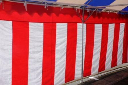 紅白幕(小)高さ1.8m 横幅5.4m 紅白紐付き