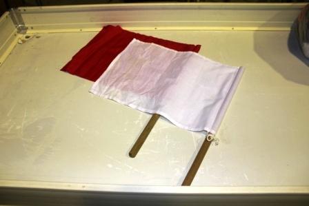 手旗(紅白)セット