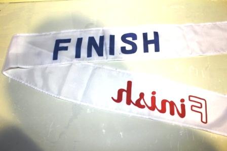 フィニッシュ・ゴール テープ