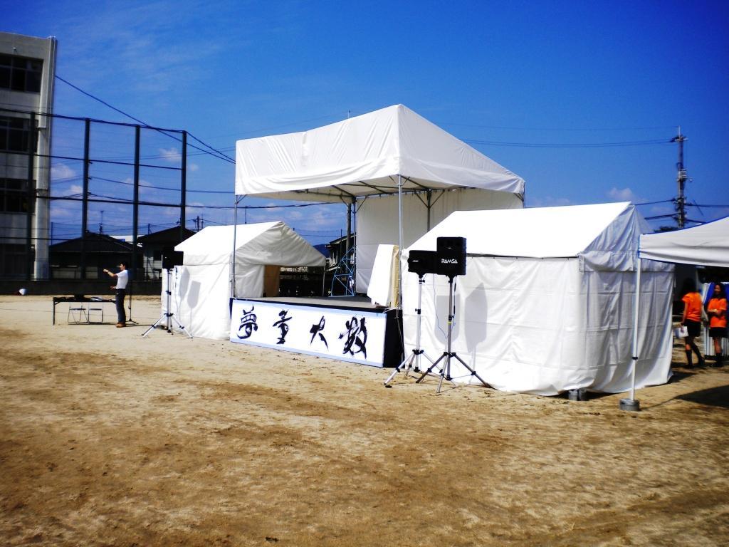 ステーシ゛ 舞台 3600㎜×5400㎜ (2k×3k 屋根あり)