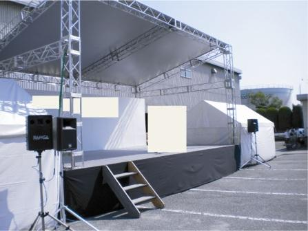 ステーシ゛ 舞台 5400㎜×9000㎜ (3k×5k 屋根あり)